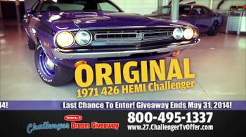 2014 Challenger Dream Giveaway TV Spot - Thumbnail 8