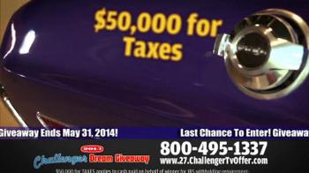 2014 Challenger Dream Giveaway TV Spot - Thumbnail 9