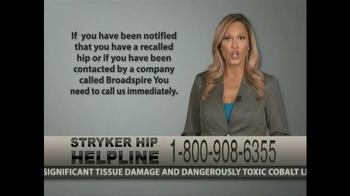 Dampier Law Firm TV Spot, \'Stryker Hip Helpline\'
