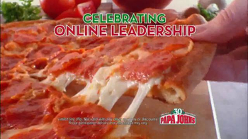 Papa John's TV Spot, 'Online Leadership' Featuring Jim Nanz - Thumbnail 4