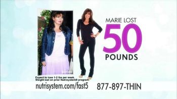 Nutrisystem Fast 5 TV Spot, 'First Five Pounds' Featuring Marie Osmond - 122 commercial airings