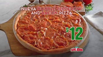 Papa John's Double Pepperoni and Bacon Pizza TV Spot [Spanish] - Thumbnail 5