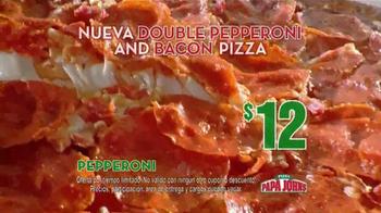 Papa John's Double Pepperoni and Bacon Pizza TV Spot [Spanish] - Thumbnail 6