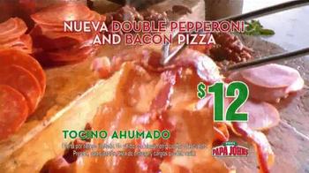 Papa John's Double Pepperoni and Bacon Pizza TV Spot [Spanish] - Thumbnail 7