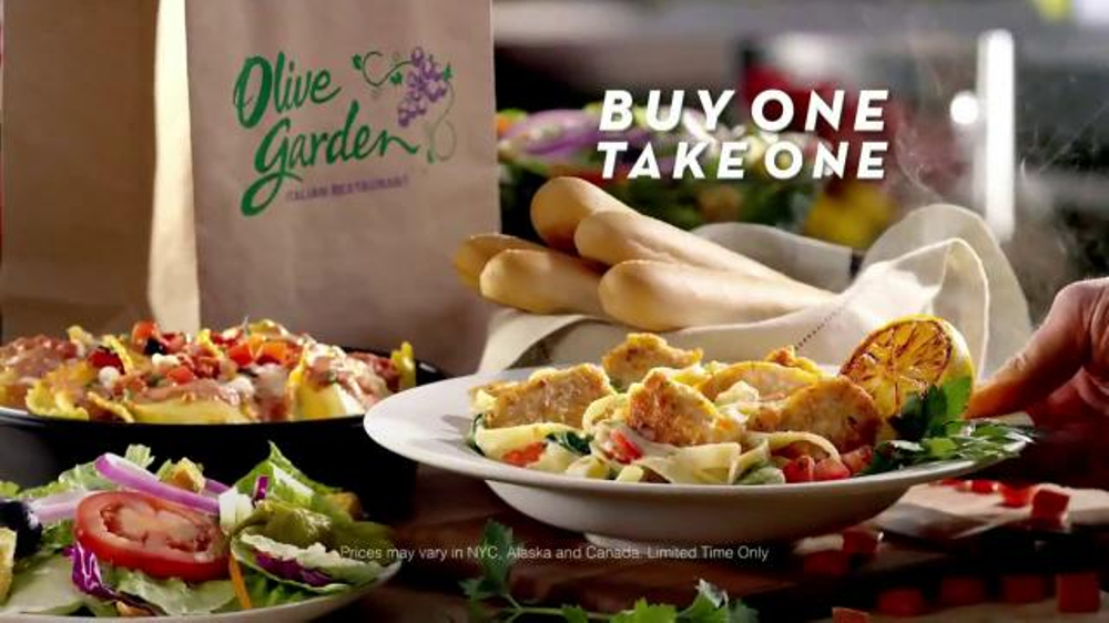 Olive garden buy one take one tv spot - What time does the olive garden close ...