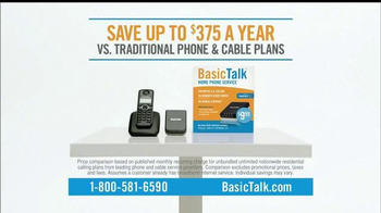 BasicTalk TV Spot, 'Unlimited US & Canada Calls'