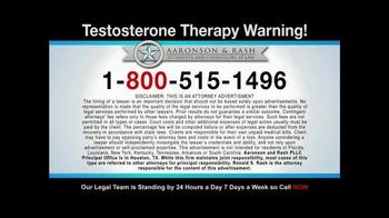 Aaronson and Rash TV Spot, 'Testosterone Therapy Warning' - Thumbnail 6