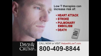 Davis & Crump, P.C. TV Spot, 'Low Testosterone'