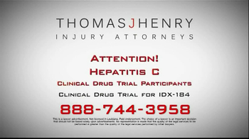 Thomas J. Henry Injury Attorneys TV Spot, 'Hepatits C'