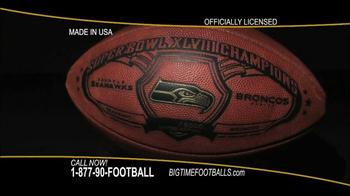 Big Time Footballs Seahawks Super Bowl XLVIII Football TV Spot - Thumbnail 1