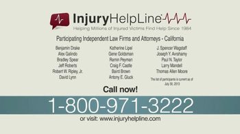 Injury Helpline TV Spot, 'Serious Accident' - Thumbnail 9