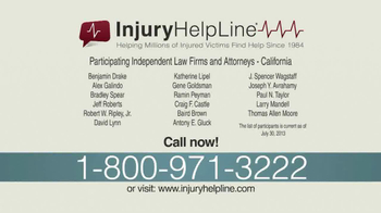 Injury Helpline TV Spot, 'Serious Accident' - Thumbnail 8