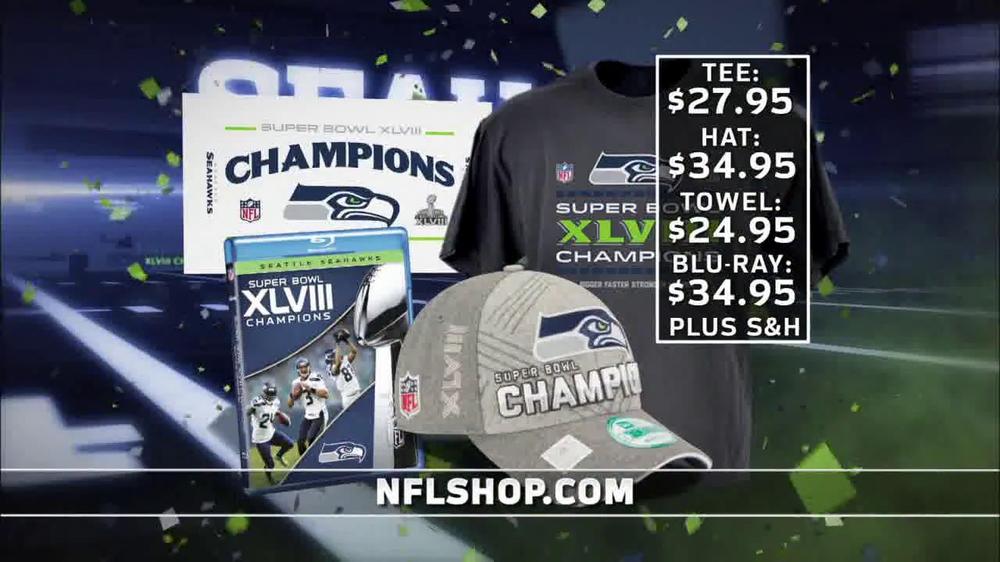 fbf716a0 NFL Shop TV Commercial, 'Seahawks Super Bowl XLVIII Champions' - Video