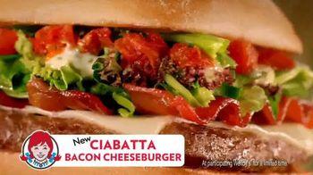 Wendy's Ciabatta Bacon Cheeseburger TV Spot - 4137 commercial airings
