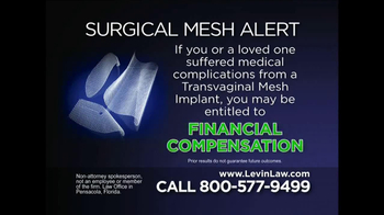 Levin Law TV Spot, 'Surgical Mesh'