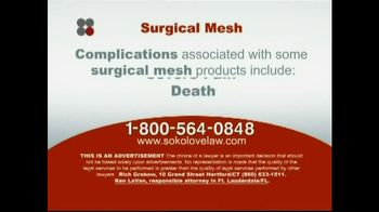 Sokolove Law TV Spot 'Surgical Mesh'