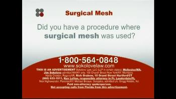 Sokolove Law TV Spot 'Surgical Mesh' - Thumbnail 2