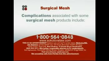 Sokolove Law TV Spot 'Surgical Mesh' - Thumbnail 3