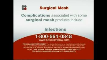 Sokolove Law TV Spot 'Surgical Mesh' - Thumbnail 4