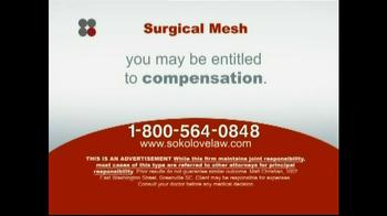 Sokolove Law TV Spot 'Surgical Mesh' - Thumbnail 8