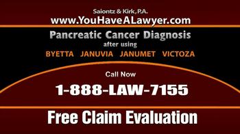 Saiontz & Kirk, P.A. TV Spot, 'Pancreatic Cancer'