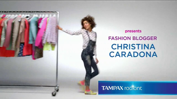 Tampax Radiant TV Spot, 'Wardrobe' Featuring Christina Caradona - 981 commercial airings