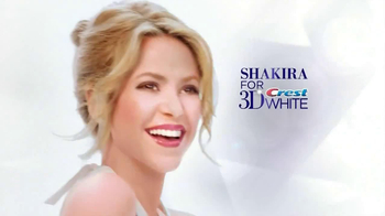 Crest 3D White Brilliance Boost TV Spot Featuring Shakira