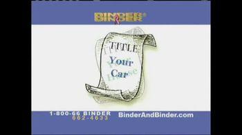 Binder and Binder TV Spot 'Your Titles'
