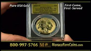 Monaco Rare Coins Gold Buffalo Coin TV Spot - Thumbnail 9