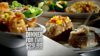 Longhorn Steakhouse Dinner for 2 TV Spot
