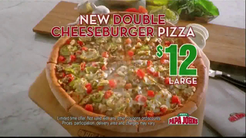 Papa John's Double Cheeseburger Pizza TV Spot - 3366 commercial airings