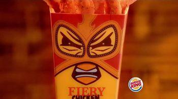 Burger King Fiery Chicken Fries TV Spot, 'Caution'