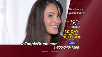 Michel Mercier No Tangle Brush Pro TV Spot, 'Detangle Stubborn Hair' - Thumbnail 8