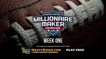 DraftKings Fantasy Football TV Spot, 'Real People, Real Winnings' - Thumbnail 4