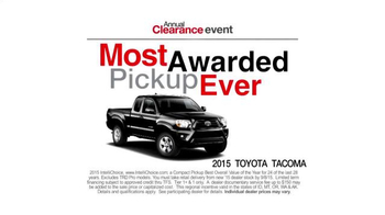 Toyota Annual Clearance Event TV Spot, 'Great Story' - Thumbnail 5