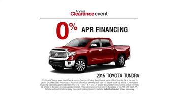 Toyota Annual Clearance Event TV Spot, 'Great Story' - Thumbnail 6