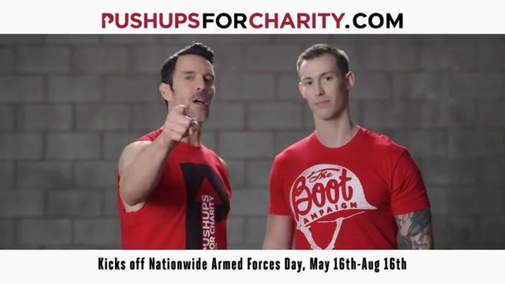 Boot Campaign TV Commercial, 'Pushups for Charity' Featuring Tony Horton