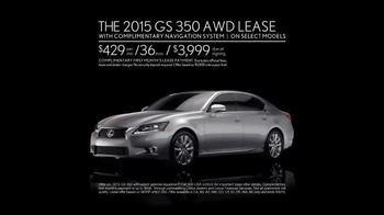 Lexus Golden Opportunity Sales Event TV Spot, '2015 GS 350'