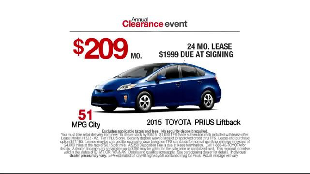 Toyota Annual Clearance Event TV Commercial, 'Prius ...