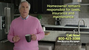 One Reverse Mortgage TV Spot, 'Retire With Savings' Featuring Henry Winkler - 17 commercial airings