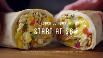 Chili's Smoked Chicken Burrito TV Spot, 'Enjoy for Lunch' - 602 commercial airings