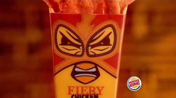 Burger King Fiery Chicken Fries TV Spot, 'Precaución [Spanish]