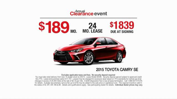 Toyota Annual Clearance Event TV Spot, 'Bold Deal' - Thumbnail 4