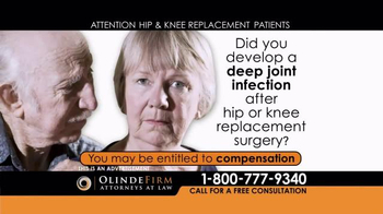 Olinde Firm TV Spot, 'Hip & Knee Replacement'