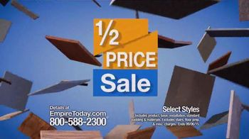 Empire Today Half Price Sale TV Spot, 'Flooring Made Easy'