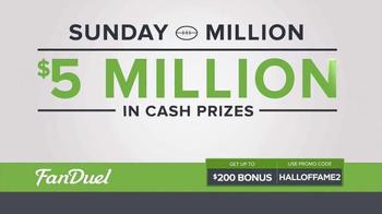 FanDuel Fantasy Football One-Week Leagues TV Spot, 'Sunday Million' - Thumbnail 6