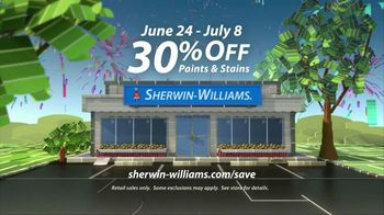 Sherwin-Williams Great Summer Painting Party TV Spot, 'Shop Now'