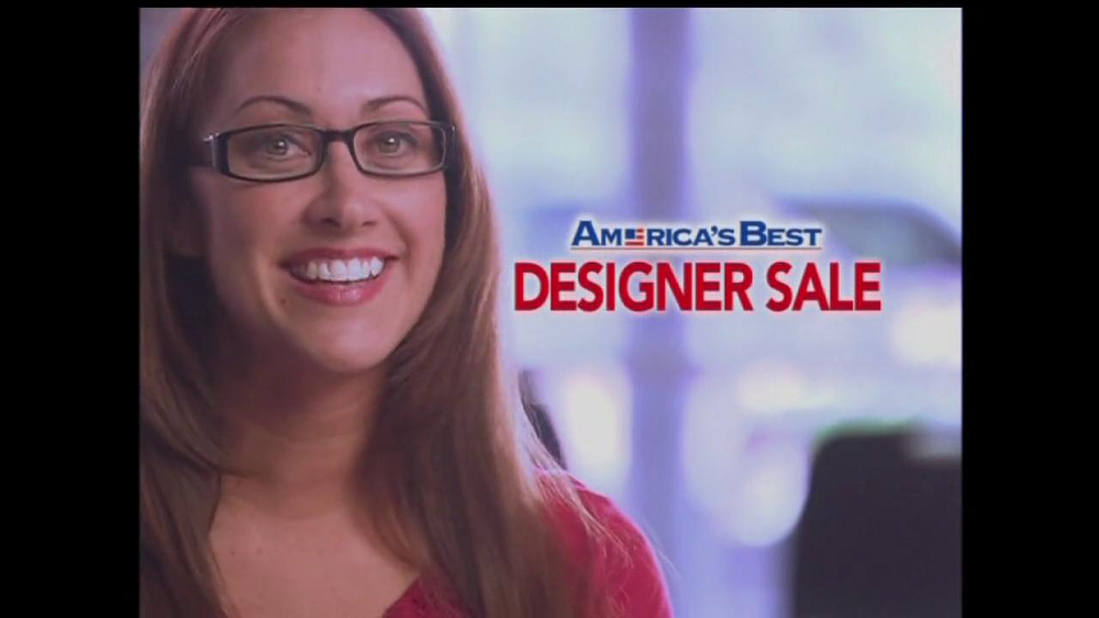 c93c3de1e419 America s Best Contacts and Eyeglasses TV Commercial For Designer Sale -  iSpot.tv