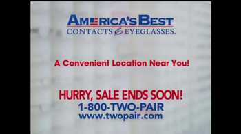 America's Best Contacts and Eyeglasses TV Spot For  Designer Sale - Thumbnail 8