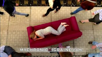Allergan, Inc. TV Spot For My Chronic Migraine Red Couch